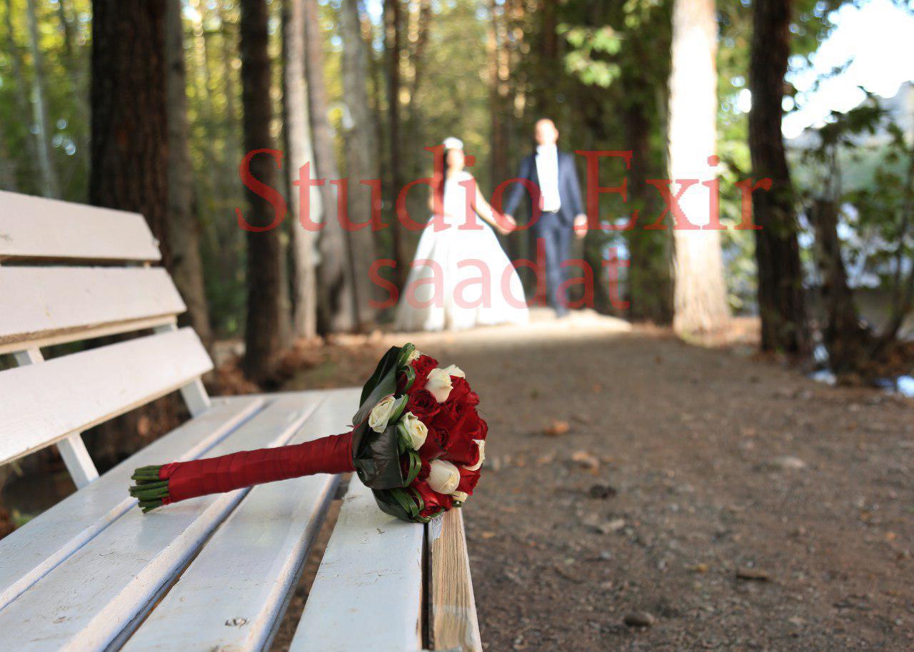 آتلیه  اکسیر سعادت   دسته گل عروس