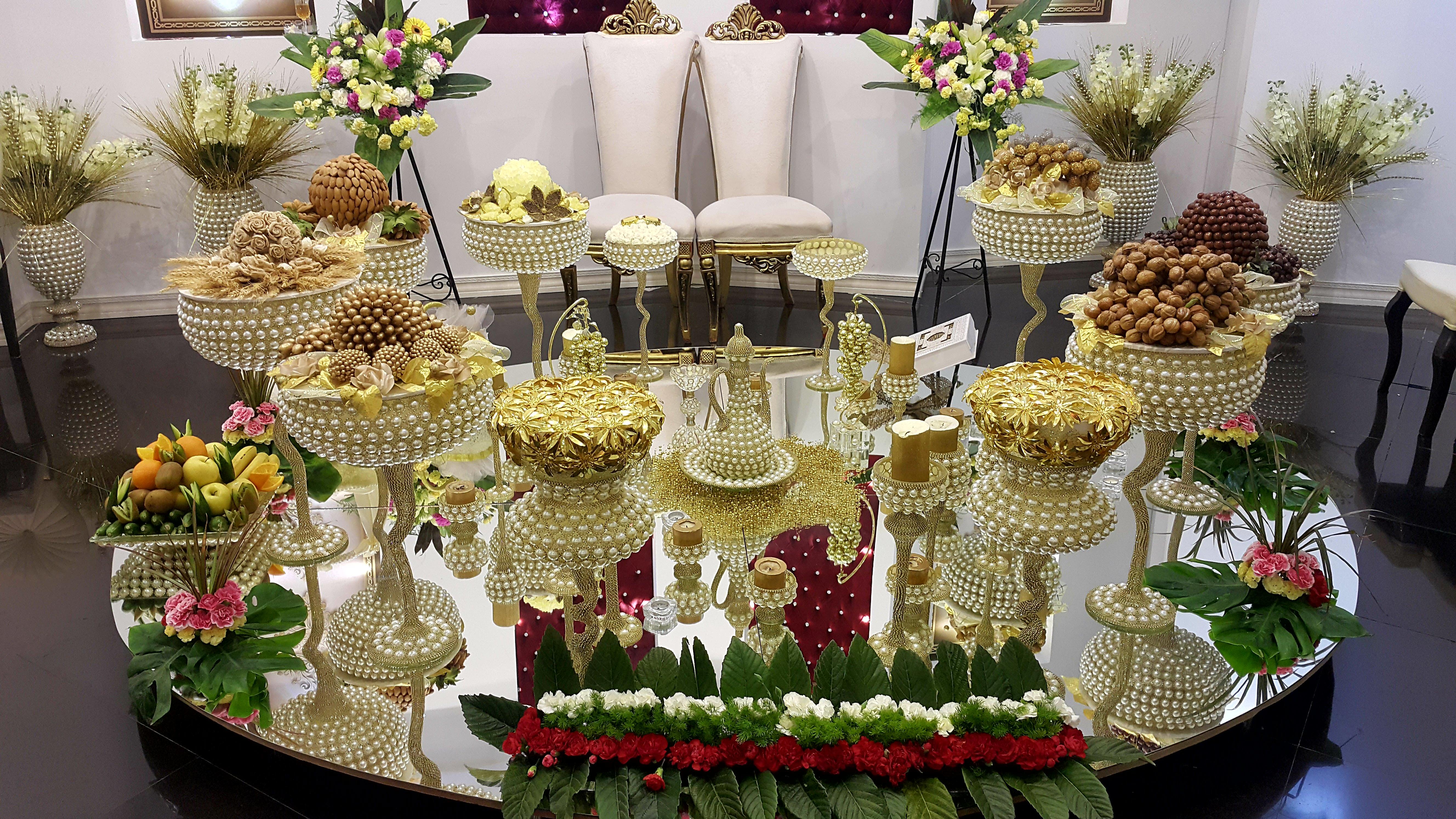 تالار عروسی پردیسان   سفره عقد عروسی