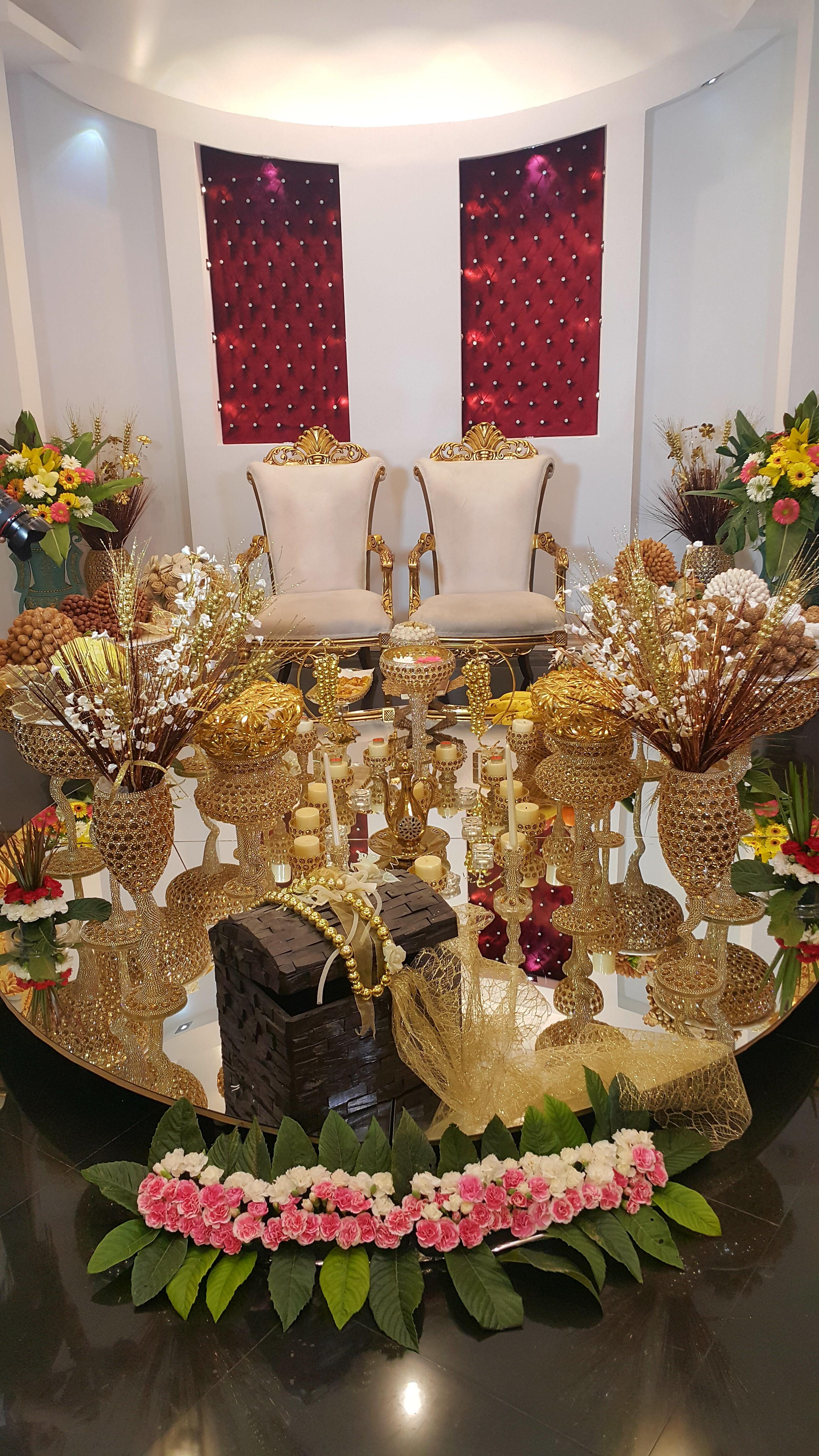 تالار عروسی پردیسان   سفره عقد عروس داماد