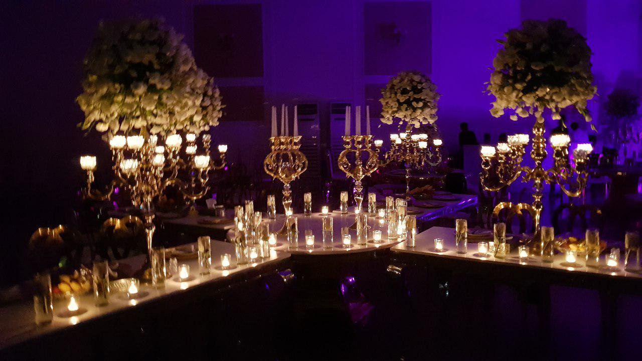 تشریفات مجالس پرنسس | شمع آرایی میز عروسی