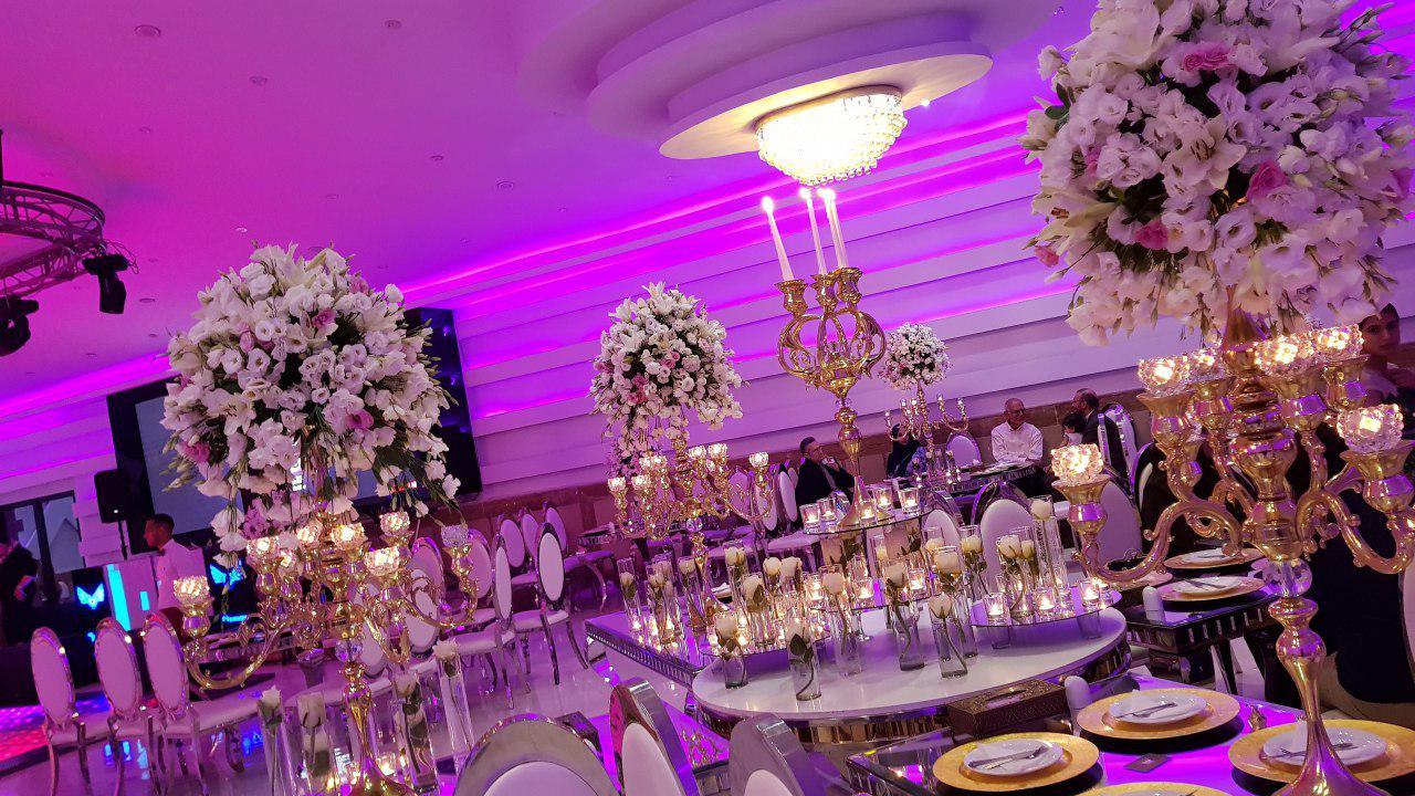 تشریفات مجالس پرنسس | دیزاین سالن عروسی