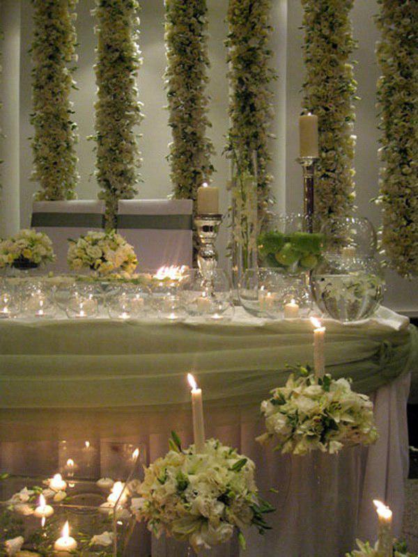 تشریفات مجالس پرنسس | گل آرایی دیوار سالن عروسی