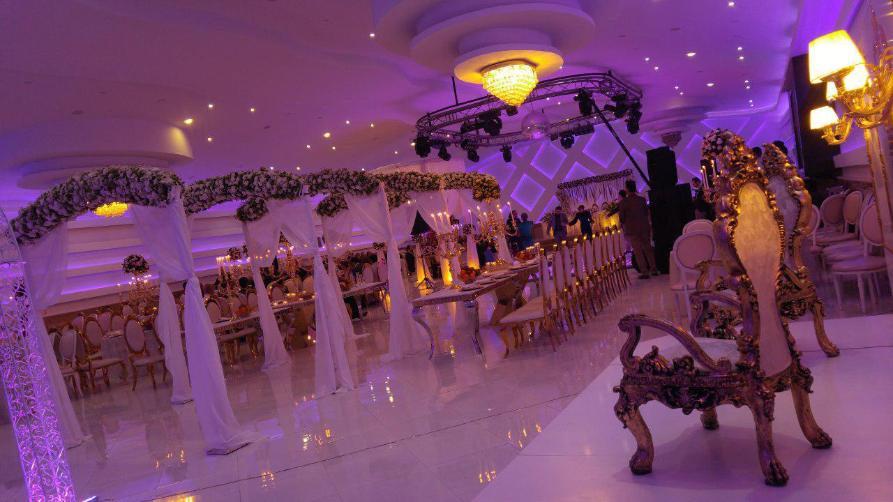 تشریفات مجالس پرنسس | نورپردازی حرفه ای سالن عروسی
