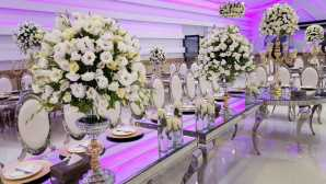 تشریفات مجالس پرنسس | گل آرایی میز مهمانان