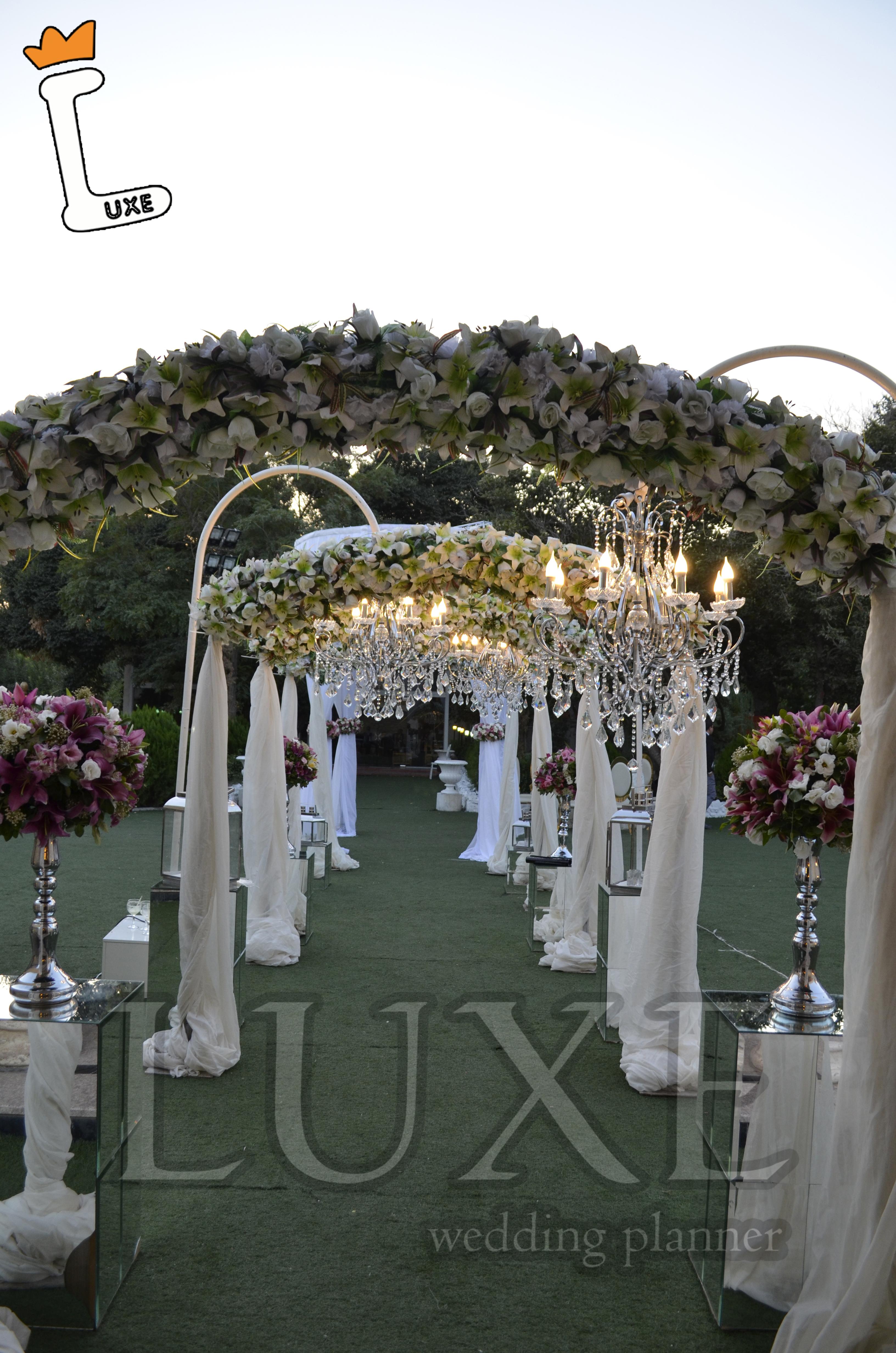 ورودی زیبای عروس داماد توسط تشریفات مجالس لوکس