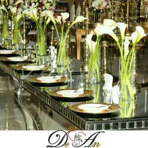تشریفات مجالس دِ آن | گل آرایی میز مهمانان
