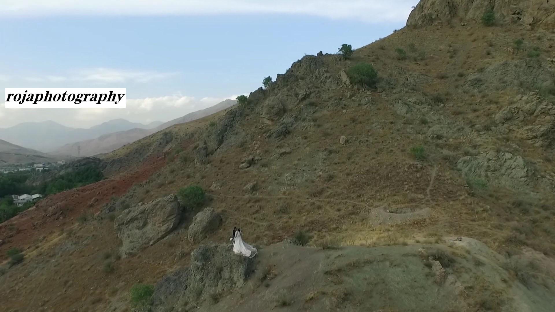 استودیو عکس و فیلم روجا | عروس و داماد در طبیعت بکر