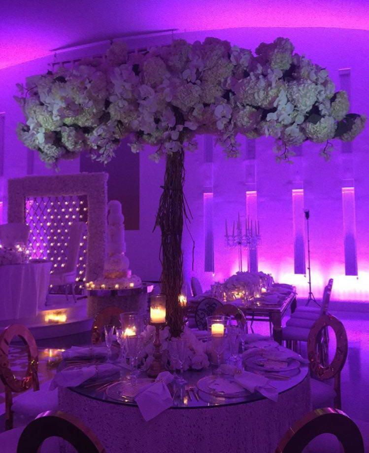 تشریفات بوژان | نور پردازی میز شام عروسی