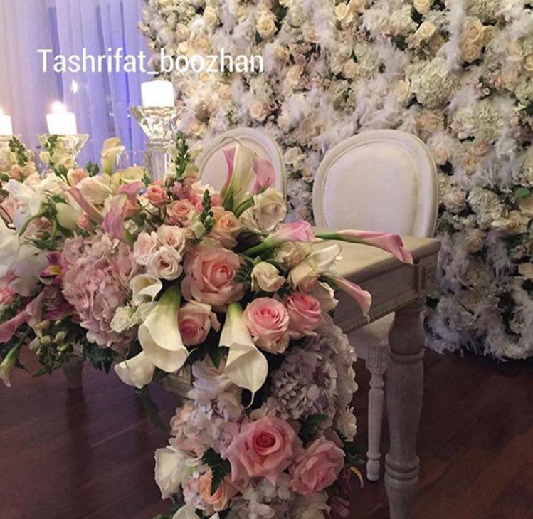 تشریفات بوژان | دیزاین جایگاه عروس و داماد