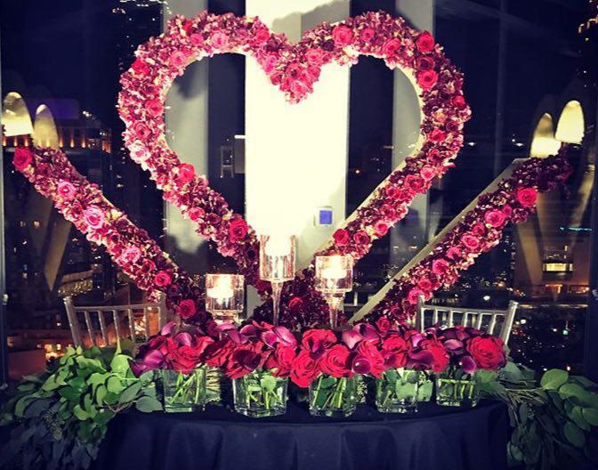 تشریفات بوژان | میز آرایی جشن عروسی با گل رز