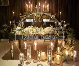تشریفات بوژان | دیزاین میز عروسی با شمع
