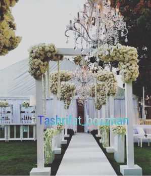 تشریفات بوژان |دیزاین ورودی خاص عروس داماد