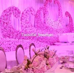 تشریفات بوژان |  گل آرایی دیوار سالن عروسی