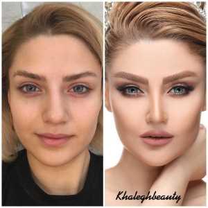 سالن آرایش عروس خالق | قبل و بعد