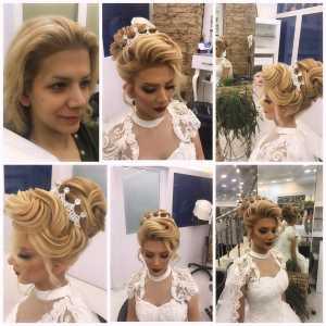 سالن آرایش سالومه | شینیون عروس بلوند