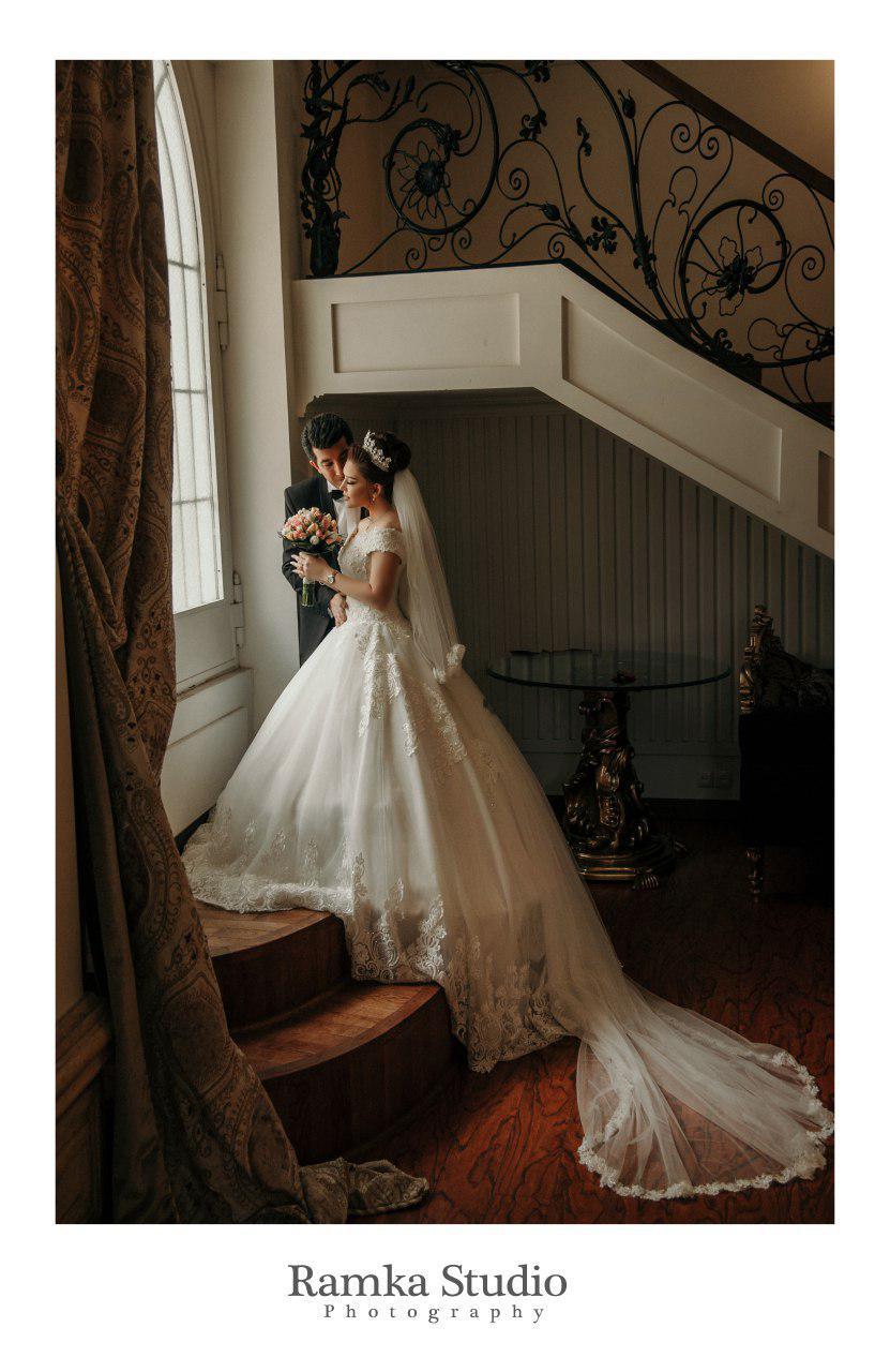 آتلیه عکس و فیلم رامکا | عکس دو نفره عروسی