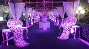 باغ تالار تشریفاتی باغ ایرانی   گل آرایی ورودی عروسی