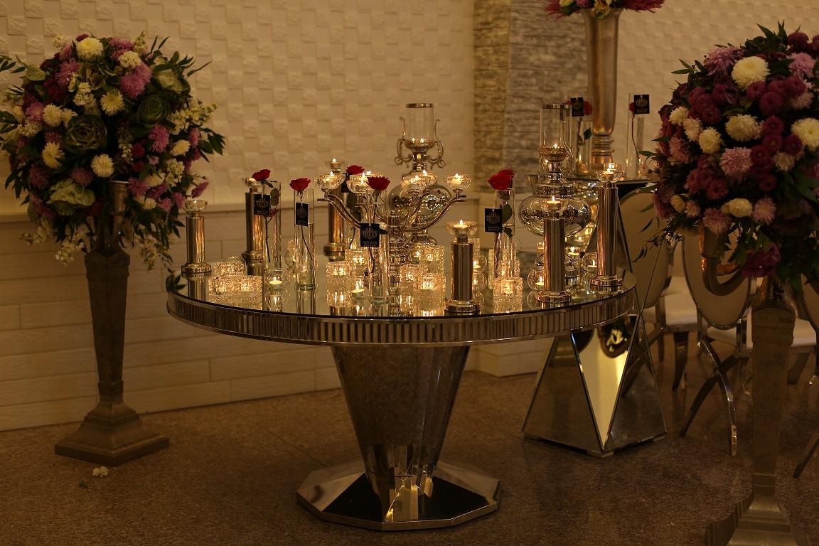 تشریفات ژوان | شمع آرایی سالن عروسی
